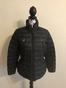 Puffer Manteau Ralph Medium Petite Black Lauren t1xtvP8q0