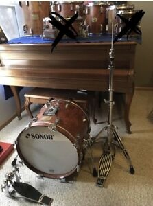 5bfeb8fb701a RARE SONOR SIGNATURE Beech Bubinga Heavy GERMANY 5 Piece No Snare Or ...