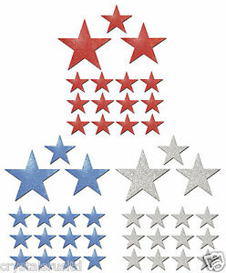 45-USA-Colour-Fabric-Glitter-Stars-Iron-on-fabric-t-shirt-transfer-patch