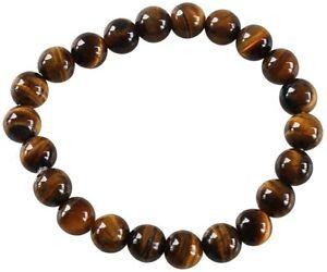 Bracelet Perles Rondes Oeil de Tigre - 8 mm