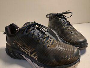 HOKA-ONE-ONE-Arahi-Midnight-Navy-Metallic-Gold-Road-Running-Shoes-Mens-8M
