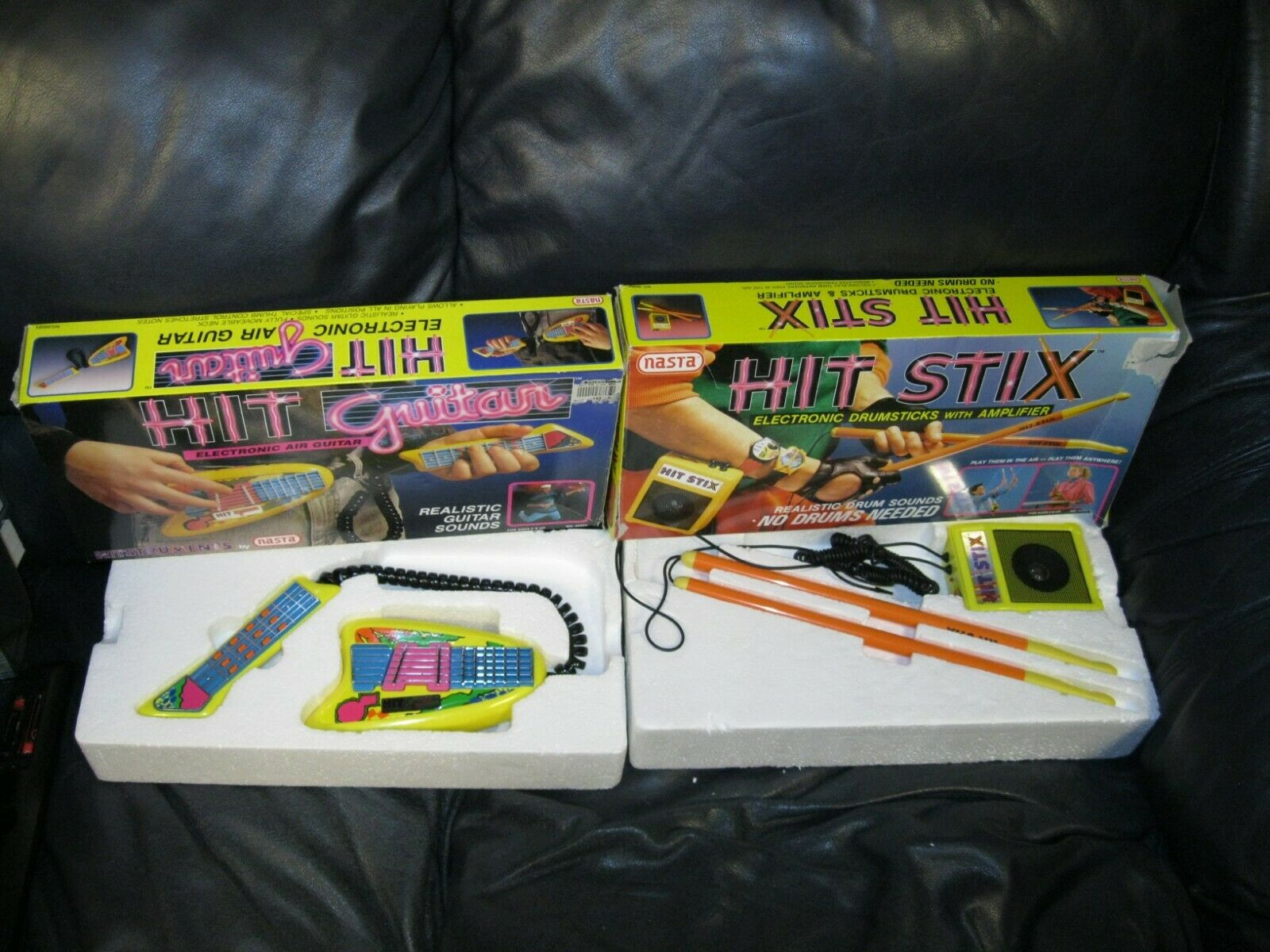 Hit Stix and Hit Guitar With Original Box By NASTA