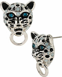 Image Is Loading Betsey Johnson Whiteout Snow Leopard Stud Earrings Nwt