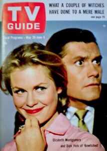 TV-Guide-1965-Bewitched-Elizabeth-Montgomery-Dick-York-Hitchcock-NM-MT-COA-Rare