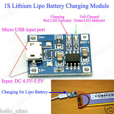 3.7 V Lithium Battery Mini USB To USB Power Apply Module 5V 1A Charge Module