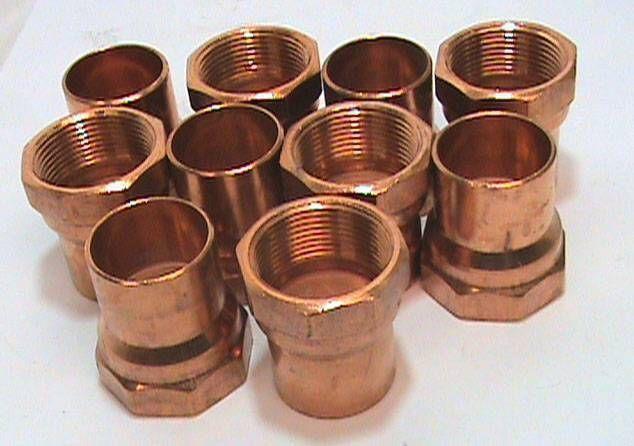 "Nibco 1//2/"" 5//8 ODx 1//2F W-1531 Female Copper Pressure Adapter Fitting Brand New!"