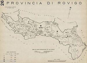 Cartina Dell Italia Rovigo.Provincia Di Rovigo Tutti I Comuni 1938 Carta Topografica Anno Xvi Era Fascista Ebay