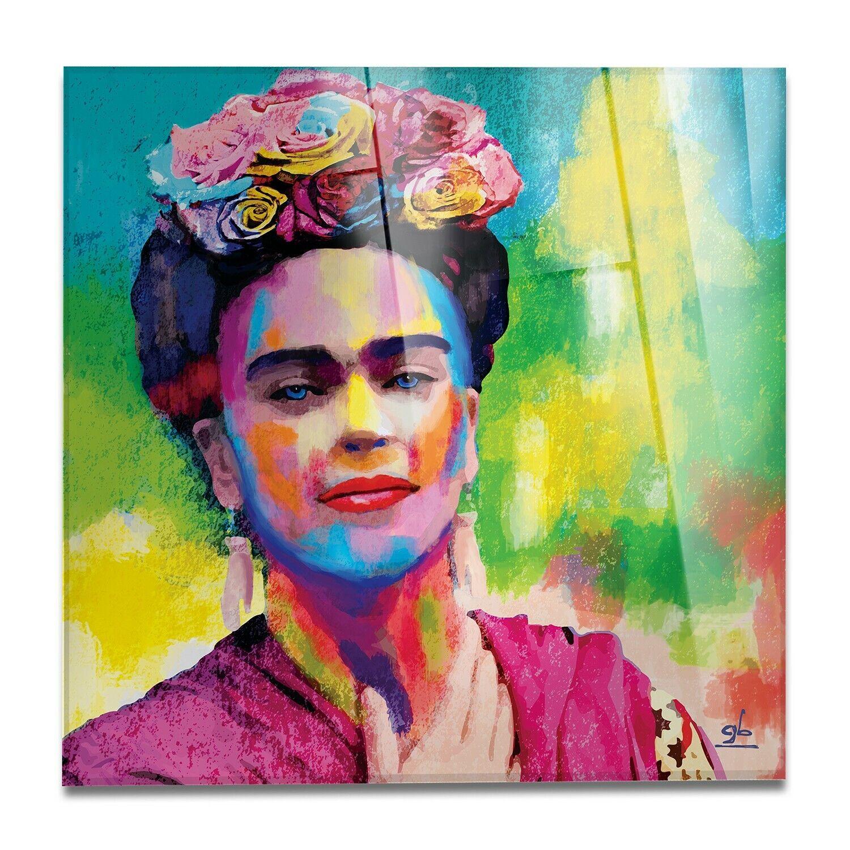 Vetro Acrilico - Astratto Autoritratto Frida - Stampa fine Kunst – Pronto da appen