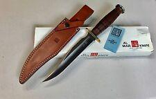 "Vintage 1980' Al Mar Grunt Bowie Blade Japan Dagger Knife 13""L Sheath Box Papers"