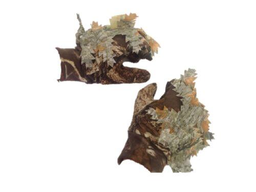 Camuflaje Guantes Punto Grip 3D Frondoso Furtivo Ajustado Caza de Palomas Trampa