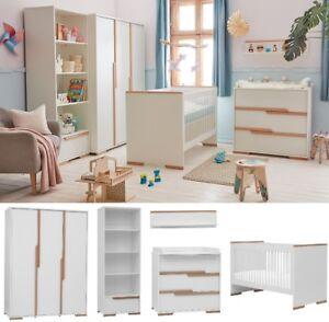 Babyzimmer Kinderzimmer komplett SPRING Set A GRAU Schrank Kommode Bett Regal