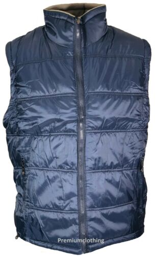 Mens 2 in 1 Gilet BodyWarmer Reversible Padded Micro Fleece Fleece Insulate m-3x