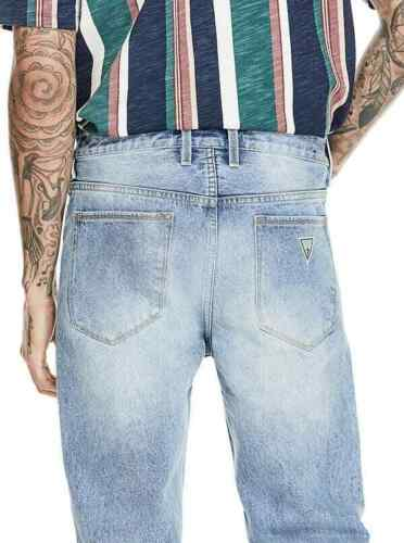 New Men/'s GUESS 1981 High-Rise Slim Straight Jeans