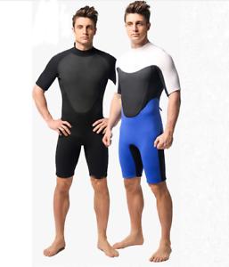 Men 3mm Neoprene Diving Suits Scuba Snorkeling Jump Free Dive Shorty Wetsuits