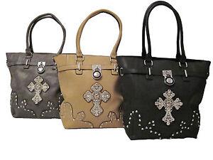 778dece883e47 Das Bild wird geladen Handtasche-mit-Strass-Kreuz-Schultertasche-Damen- Tasche-mit-