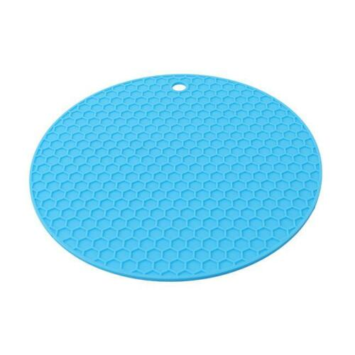 New Colourful Silicone Trivet Heat Resistant Mat Pan Iron Straightener Holder LC