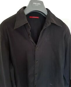 Mens-chic-PRADA-long-sleeve-shirt-size-large-Immaculate-RRP-295