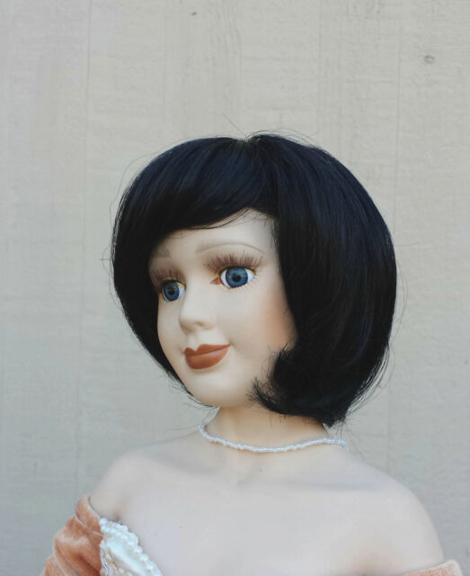 "Doll Wig - #W104 Short Pageboy cut size 5""(head): CHOICE of color."