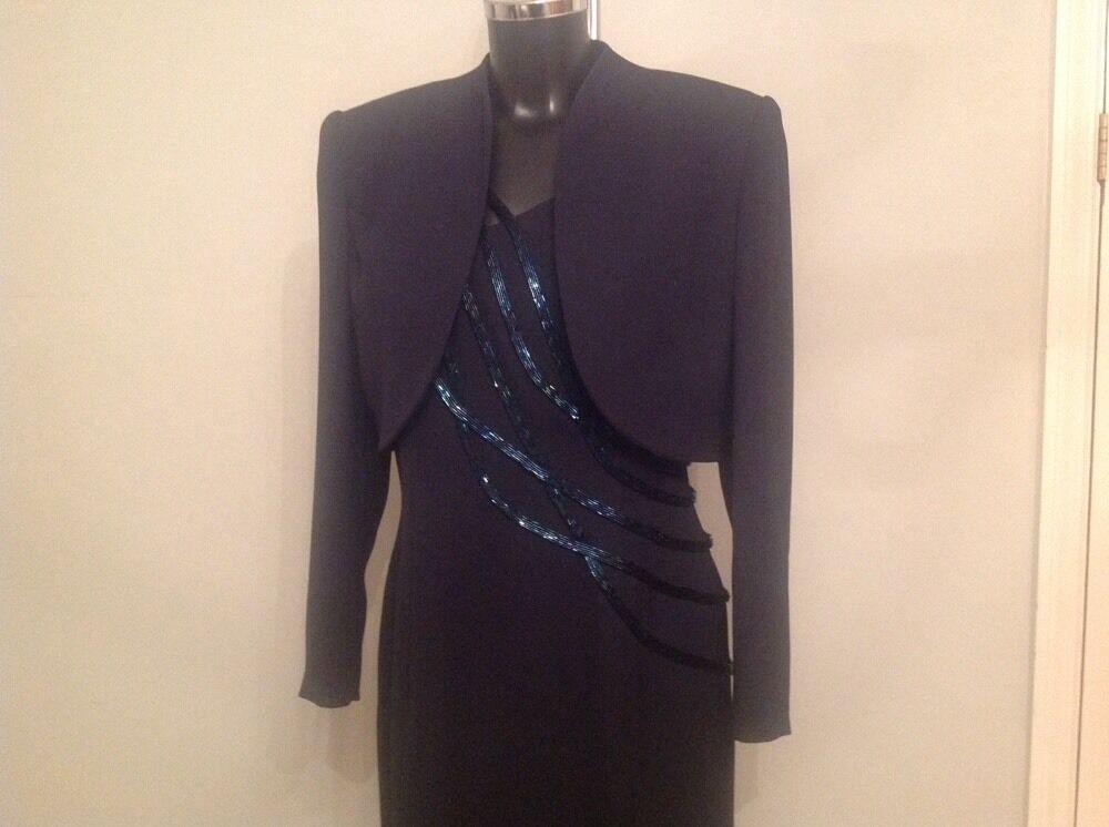 Evening Dress 14 Ronald Joyce Mother Of The Bride Wedding Bolero Jacket Split