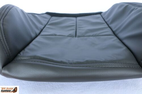 2005-2006 Chevy 1500 2500 3500 Driver Side Bottom Leather Seat Cover Dark Gray