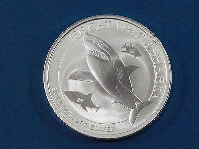 PERTH MINT BU 2014 1//2 TROY OZ .999 FINE SILVER AUSTRALIAN GREAT WHITE SHARK