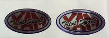 Yamaha TY 250, TY Pinkie etc YAM TRIAL SPORT  2 No. Chrome Oval Decals