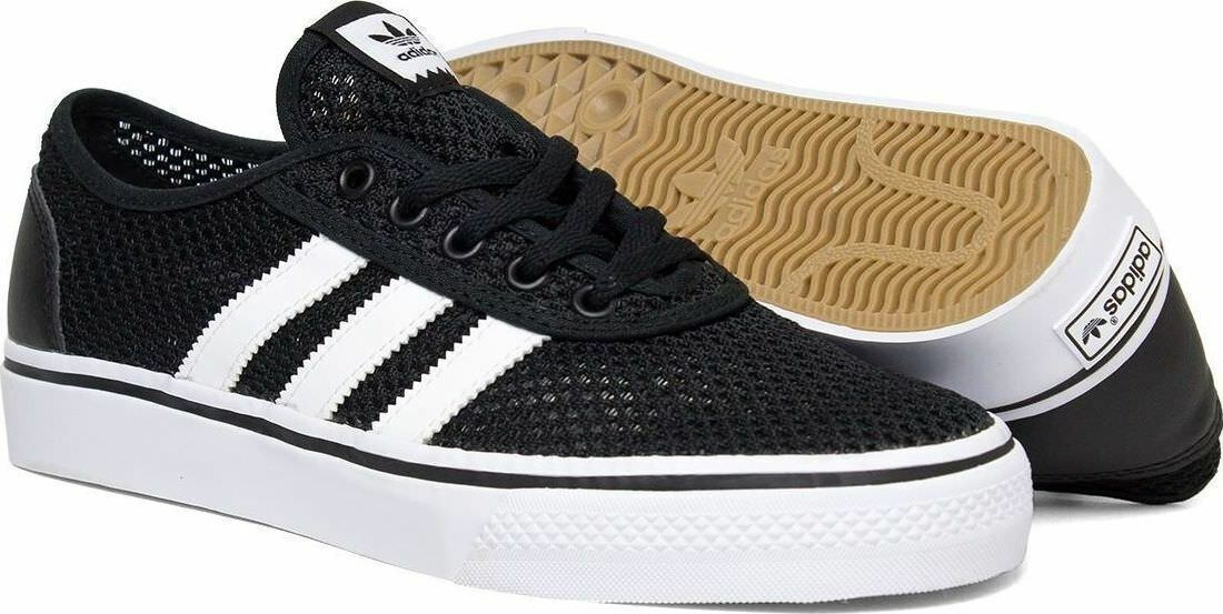 Adidas Black Adi-Ease Mens Trainers Skate Lace Up  Comfortable and good-looking