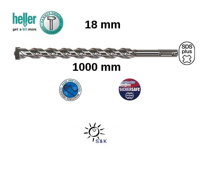 HELLER Hammerbohrer Bionic Pro SDS-plus D. 18,0 mm Arbeits-L.950 mm L.1000 mm
