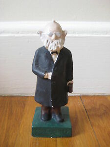 vintage Mr Faculty ceramic FIGURINE professor teacher figure maybe Schafer Vater