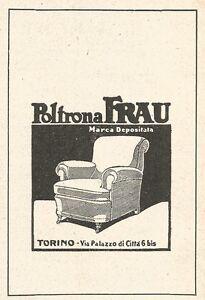Z2458 Poltrona FRAU - Torino - Pubblicità del 1929 - Vintage ...
