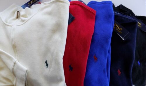 Pullover Ralph 1 Nwt grande e Mockneck Zip Lauren Felpa 2 alta French Pull Polo Fqwa6Zx