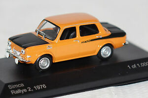 Simca-1000-Rally-2-1976-orange-schwarz-1-43-Whitebox-neu-amp-OVP-WB168