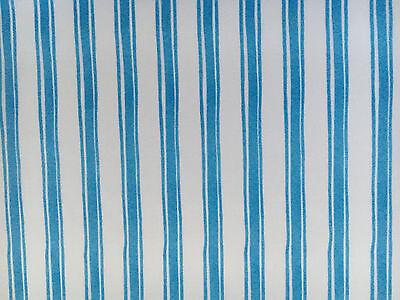 Quilting Treasures Fabric SUNSHINE RESORT Aqua Ticking Stripe- yards