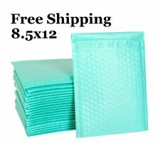 1 300 2 85x12 Teal Color Poly Bubble Mailers Fast Shipping