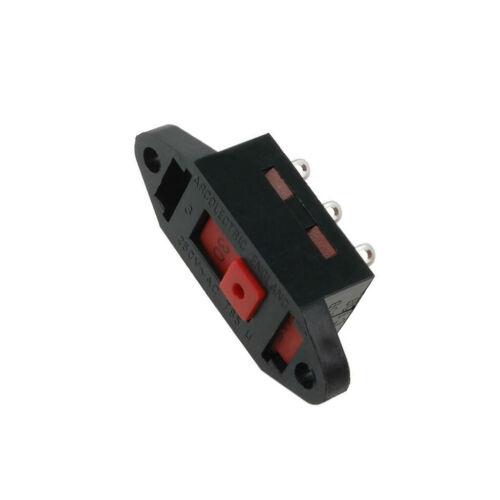 AE-T22205B Interruptor Deslizante 2 posiciones Interruptor DPDT 10A//250VDC conduce Soldadura Lugs T 22205 baae