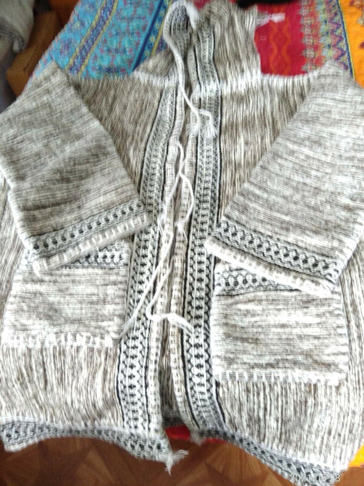 Handmade Tunisian Hooded Jacket ,24in wide,32in length ,19in sleeves.