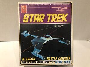 AMT-Klingon-Alien-Battle-Cruiser-As-Seen-On-Star-Trek-vintage-Unassembled
