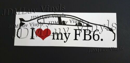 I love my FB6 Civic Si 12-15 Sticker decal JDM Honda k20