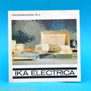Trockenrasierer-TR-12-IKA-Electrica-1969-Werbezettel-Werbung-DDR