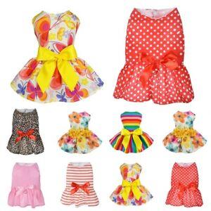 Various-Cute-Pet-Dog-Dress-Skirt-Apparel-Summer-Clothes-Puppy-Princess-Costume