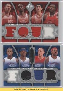 3cf64833a62b Details about 2009-10 SP Game Used Four on Fabrics RGHDSIPW Chicago Bulls  Detroit Pistons Card