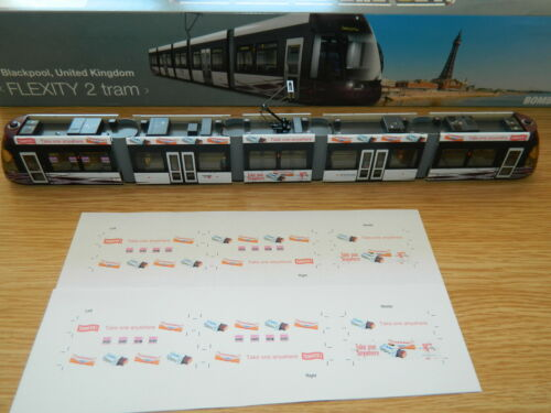 Pleasure Beach Gold Advertising decals for Halling Model Blackpool Flexity Tram