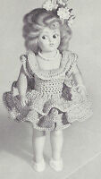 Vintage Crochet Pattern To Make 8 Inch Doll Clothes Ballerina Or Skating Skirt