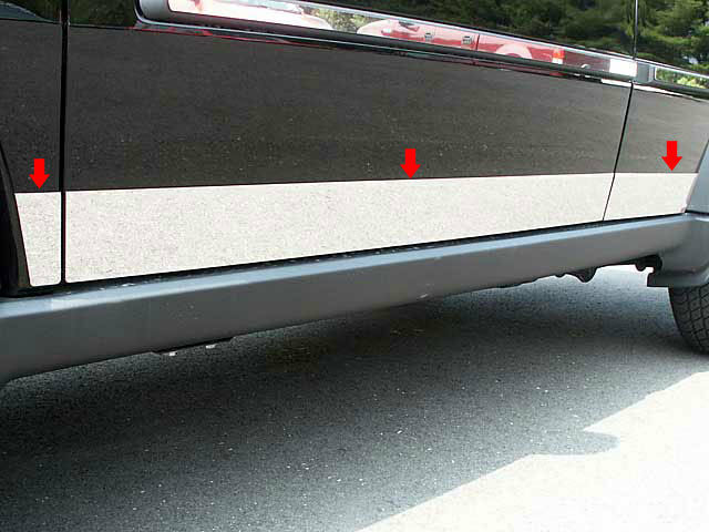 FITS DODGE NITRO 2007-2011 STAINLESS CHROME ROCKER PANEL 6PCS