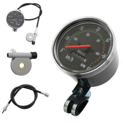 Waterproof Bicycle Bike Speedometer Analog Mechanical Odometer With Hardware New