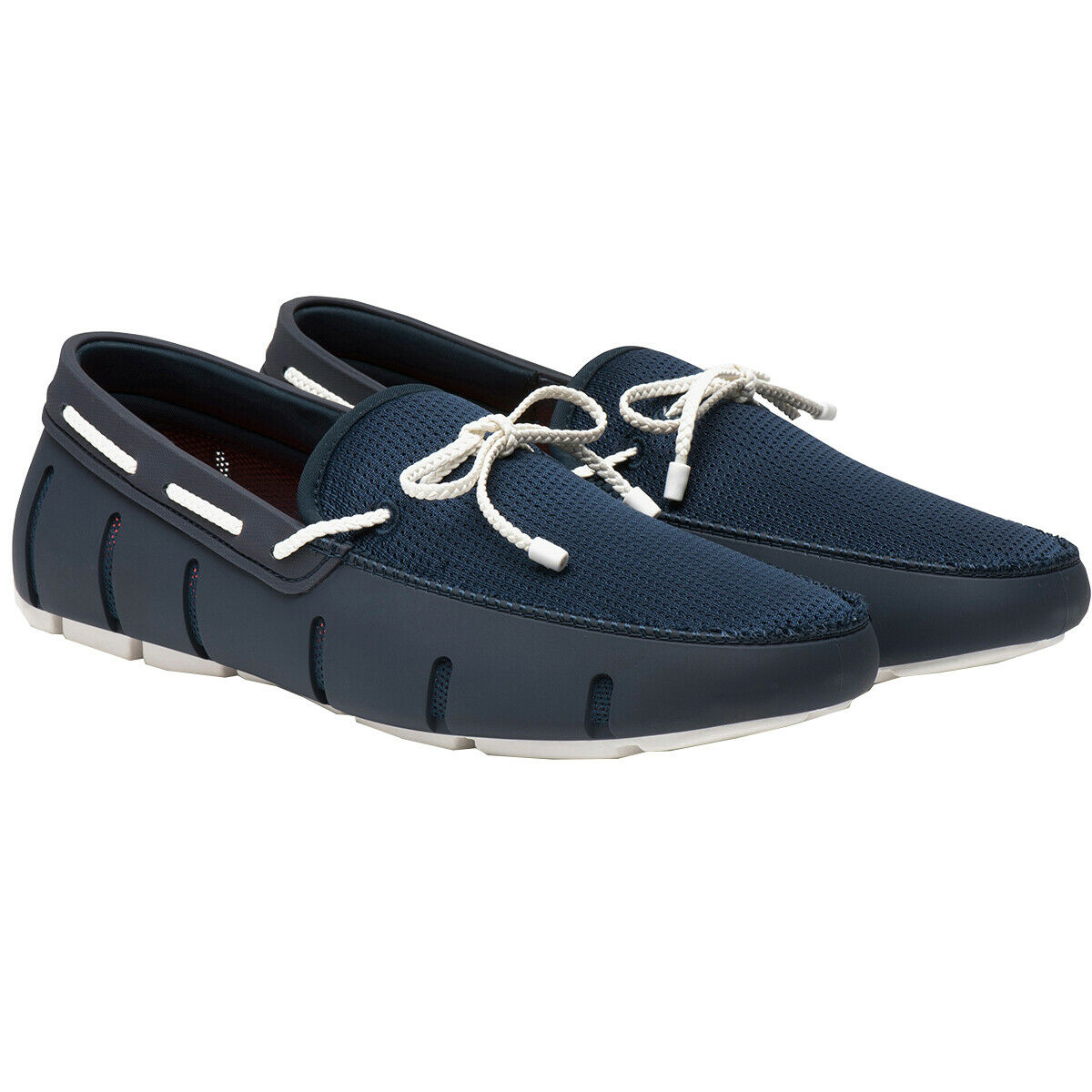 Swims NEW Men's Braided Lace Loafers - Navy   White BNWT