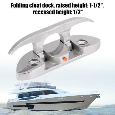 "2Pcs Stainless Steel Folding Cleat 4-1//2/"" Inch Mooring Cleat for Boat"
