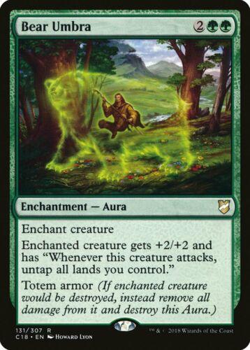 Bear Umbra Commander 2018 NM Green Rare MAGIC THE GATHERING MTG CARD ABUGames
