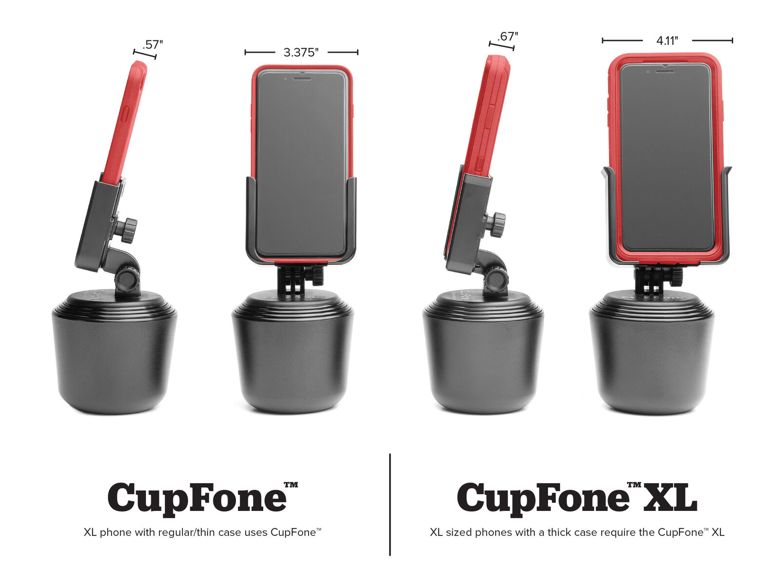 Weathertech Cupfone Universal Adjustable Cup Holder Car Mount 8acf1 Black For Sale Online Ebay