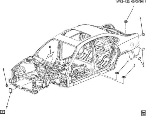 1995-2014 GM Vehicles Rear Quarter Panel Body Plug Filler Black Rubber 10124752
